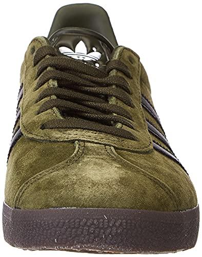 adidas Gazelle, Sneaker Hombre, Night Cargo/Core Black/Gum, 41 1/3 EU