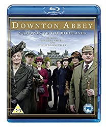 Promotional image for Downton Abbey showing Maggie Smith and cast lineup