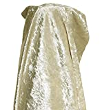 A-Express Tela de terciopelo Aplastado Suave Material Cortinas Cojines Modista Tapicería 140cm ancho - 1 Metro (100cm x 140cm) Crema