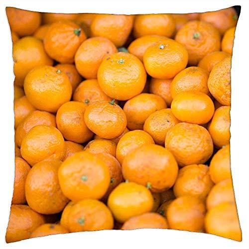 LESGAULEST Throw Pillow Cover (24x24 inch) - Mandarins Mandarin Oranges Clementines Citrus Fruits