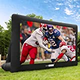 VIVOHOME 16ft Indoor and Outdoor Inflatable Blow up Mega Movie Projector Screen with Carry Bag for Front and Rear Projection