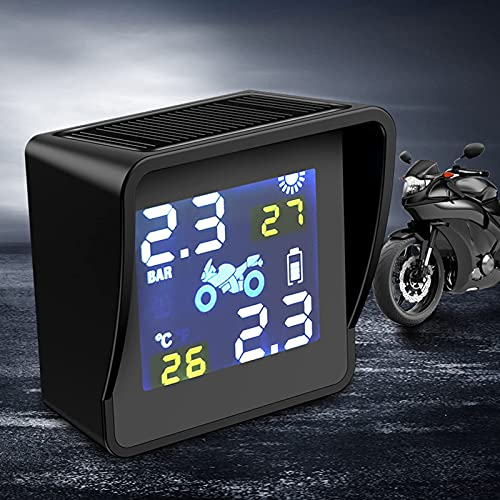 Wdszb Monitor de presión de neumáticos inalámbrico Solar con Pantalla y luz de Trabajo LED Detector de presión de neumáticos Digital Sensor de Servicio de Ruedas Equipo de Pantalla de Gran tamaño