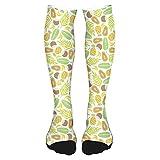 Calcetines altos de algodón para el muslo 2021, coloridos dibujos de peces con caras felices y burbujas bajo el mar acuario, calcetines largos hasta la rodilla para hombre y mujer