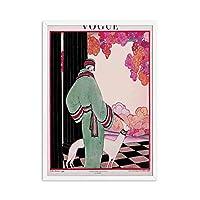 流行の女性のポスターとプリントヴィンテージ女性雑誌キャンバス壁アート抽象絵画現代絵画リビングルームの装飾50x70cmx1フレームなし