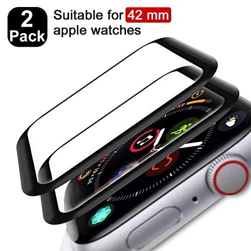 FANIER Protector Pantalla para Apple Watch 42mm Serie 3/2/1 Cristal Templado [Alta sensibilidad] para Suave Protector para Apple Watch 42mm Serie 3/2/1 [2 Piezas]