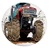 Mantel ajustable de poliéster con bordes elásticos, diseño gráfico, ruedas de motor de llama, para mesas redondas de 91,4 a 101,6 cm, para eventos en interiores y exteriores, multicol