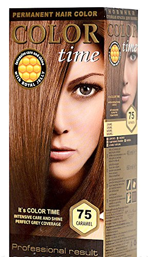 Color Time Haarfarbe Permanent, mit Gelée royale, 75 Karamell