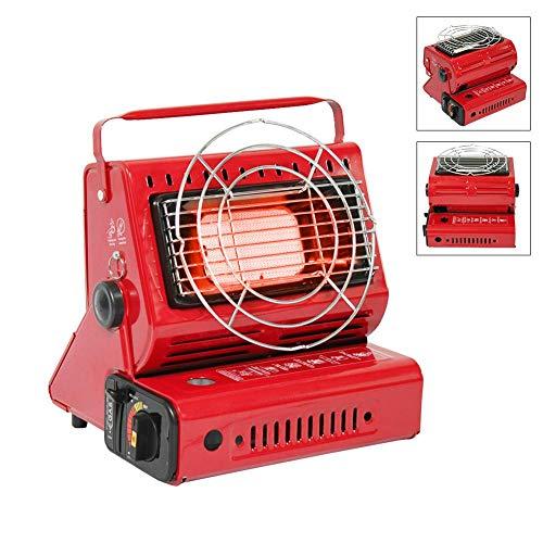 Dream-cool Calentador de Gas butano, Estufa portátil de Doble Uso para Camping al Aire Libre, Viajes Mantener Caliente, hervir Agua o cocinar