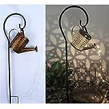 hfior Guirnalda de luces solares, lámpara de jardín con maceta,...
