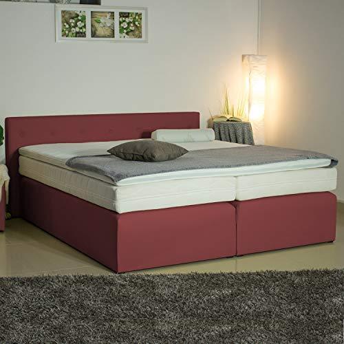 PAARA Boxspringbett mit Anti-Rutschmatten Taschenfederkern Matratze Kaltschaum Topper Komplettset - Jedes Bett EIN Unikat - Made in Germany 180 x 200 cm