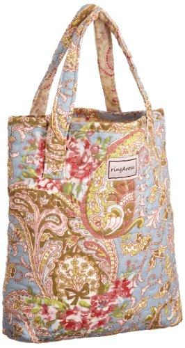 Ringarose iPad/Book Bag Rose, Borsa Donna, Blu (Paisley Bleu)
