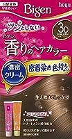 ホーユー ビゲン香りのヘアカラークリーム3D (落ち着いた明るいライトブラウン) ×3個
