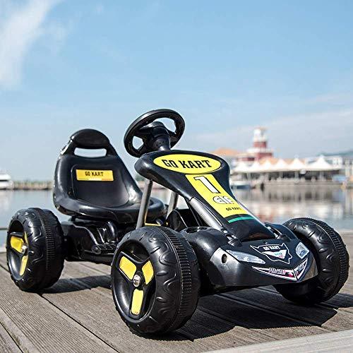 WGFGXQ Auto elettrica per Bambini da Corsa Kart Elettrico per Bambini Rc Telecomando per Auto Pedale per Auto Pedale per Go Kart Giro in Auto sui Giocattoli Ragazzi e Ragazze Regali per Bambini Gio