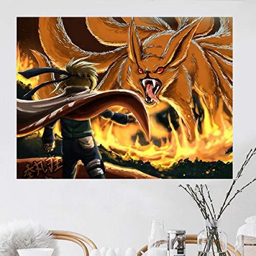 Anime Japonés Naruto Decoración De Fondo Tela Colgante Bar Estudio Dormitorio Sala De Estar