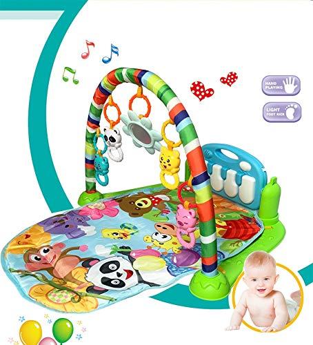 AKDSteel Baby Gym Tapis Puzzles Matte Lernregal Spielzeug Baby Musik Spielmatte mit Klaviertastatur Kleinkind Fitness Teppich Geschenk für Kinder aktualisierte Version