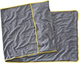 Sowel® Toalla de Playa para Tumbona de Playa y Jardin, 100% Algodón Orgánico, Funda de Tejido de Rizo, 80 x 220 cm, Gris/Amarillo