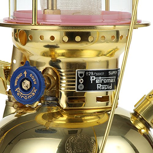 【お1人様1点限り】Petromax[ペトロマックス]HK500圧力式灯油ランタンpx5mブラスPolishedオイルランプランタンカンテラアウトドアキャンプライト照明[並行輸入品]