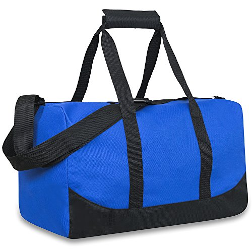 Trail maker 30 Liter, 17 Inch Canvas Duffle Bags for Men and Women -Travel Weekender Overnight Carry-On Shoulder Duffel Tote Bags (Blue)