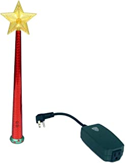 Magic Light Wand (Red – Remote Control with Enchanting Sound for Decorative Lights! Use with Christmas Trees, Night Lights, Festive String Lights and More