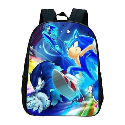 regalo para Mochila Sonic Mochila escolar para niños Mochila Sonic para jardín de infantes Mochila impermeable Mochila diaria Mochila para niños Mochila de dibujos animados