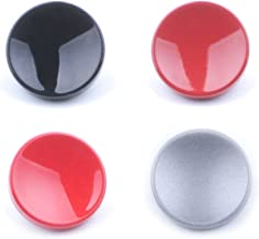 (4 Pack) VKO Soft Metal Shutter Release Button Brass Compatible for Fujifilm X-T30 X-T3 X100F X-T20 X-PRO2 X30 X100T X100S X-T2 X-E3 RX10 II III IV Camera Black Red Dark-red Gray 11mm Concave Surface