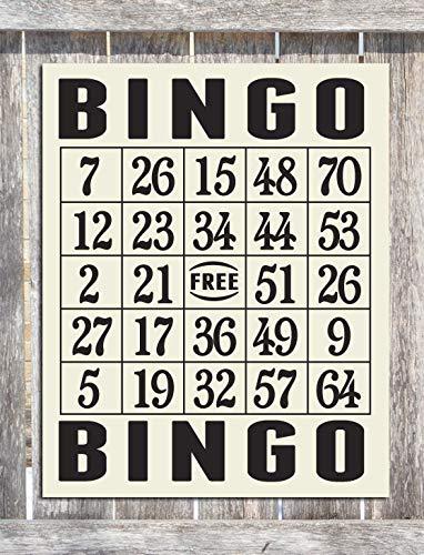 Free Brand Placa de madera para pared con diseño de bingo, de madera, para pared o oficina
