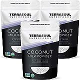 Terrasoul Superfoods Organic Coconut Milk Powder, 3 Lbs (3 Pack) - Plant-Based Creamer   Keto Friendly