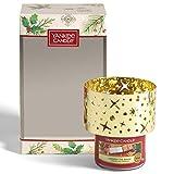 Yankee Candle Coffret cadeau | Bougies parfumées de Noël | Petite bougie jarre Unwrap the Magic et abat-jour pour bougie | Collection Magical Christmas Morning
