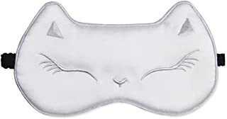 DREAMER Silk Sleep Eye Mask Cartoon Cat Pattern Night Eyeshade Sleeping Blindfold