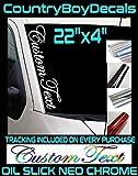 Custom Text 22' NEO CHROME Oil Slick Vinyl Decal Sticker Truck Car Turbo Boost