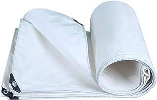 GRPB Blanco Impermeable Lona de Lona Protector Solar Toldo para Exterior Capa Familia Camping Jardín Muebles de Servicio Pesado Cubierta de Lona de plástico Cubierta de Lona (Tamaño : 5mx5m)