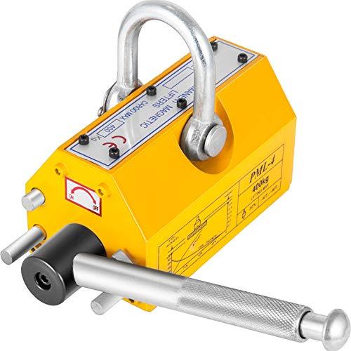 VEVOR 400kg Sollevatore Magnetico Permanente di Sollevamento, Mandrino Magnetico Capacità di Peso 400kg / 880lbs Uso per Lamiere di Acciaio, Blocchi, Barre, Materiali Cilindrici
