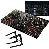 Pioneer DJ DDJ-400-N + PCスタンドセット 初心者向け教則動画付属 パフォーマンスDJコントローラー 限定ゴールドモデル