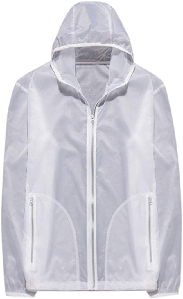FIRERO Unisex Wind and Rainproof Sunscreen Windbreaker Multifunctional Jacket Transparent Ultralight Long Sleeve Top