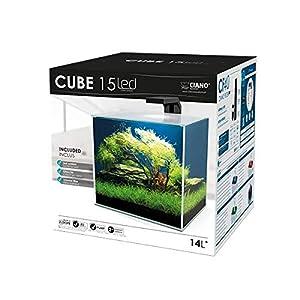Ciano Cube Glass Aquarium Includes LED Lights & Filter (Cube 15 (14 Litres))