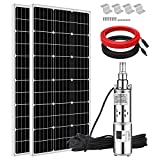 ECO-WORTHY 400W 24V Stainless Steel 316 Submersible Solar Water Well Pump Kit, 3'' 250W Solar Water Pump + 400W Mono Solar Panel...