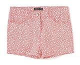TEX - Pantalón Corto Estampado de Niña, Coral Oscuro, 11-12 años