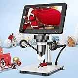 SEAAN Microscopio Digital 7Pulgadas1200X Salida de 12.0MP Portátil LED Lupa Digital,Se Utiliza para Reparación de Relojes de Placa de Circuito Identificación de Joyas Investigación Científica