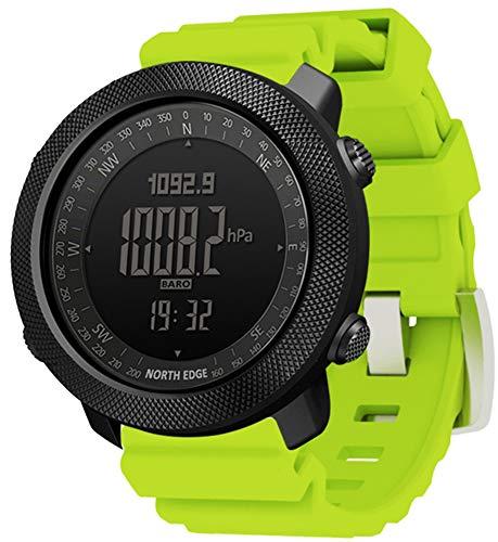 YGMDSL Reloj Deportivo Deportivo para Hombres Reloj Deportivo Inteligente Reloj Reloj De Pulsera En Marcha Natación Militar Militar Relojes Altímetro Barómetro Brújula Impermeable 50M (Green)