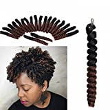 T1B/30 Eunice Hair Short Curly Saniya Curl Crochet Hair Crochet Braids Natural and Soft Bouncy Twist Hair 20 Strands/Pack 3 Packs/Lot For Women (10 inch saniya, ombre 30)