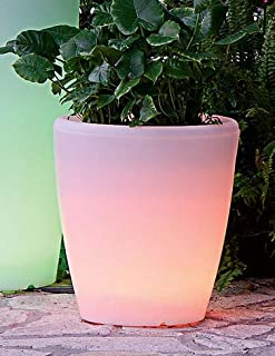 Solar Illuminated Planter, Medium