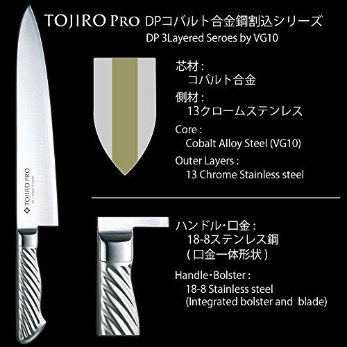 藤次郎『TOJIROPRODPコバルト合金鋼割込三徳(F-895)』