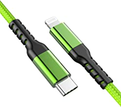 Azhizco Lightning to USB C Cable 6Ft Apple MFi Certified PD Power Delivery Fast Charging and Syncing Cord Compatible with iPhone 8/8plus/X/XS/XR/Xs Max, Use with Type-c Charger