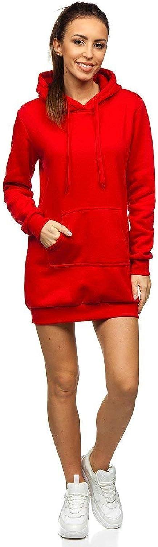 Bolf , felpa lunga con cappuccio stile street per donna, 65% cotone, 35% poliestere J.STYLE YS10003