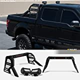Armordillo 642167818786 Universal Adjustable CR2 Chase Rack Truck Bed Roll Bar with 3rd Third Brake Light & 2x LED Work Lamps Bars & 2x 12Cree LED Fog Light Bars - Matte Black