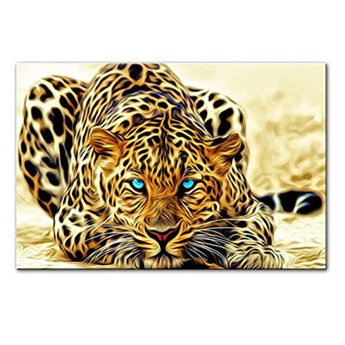 RHWXAX Leopardo Decoración de Animales Pintura Core Leopard Living Room Room Brood Fondo Wall HD Lienzo Pintura 24x32 Inch Sin Marco