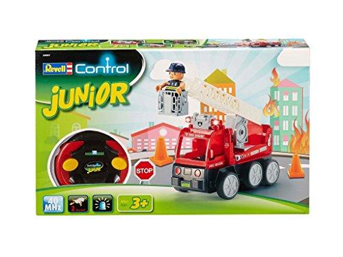 RC Feuerwehr kaufen Feuerwehr Bild 1: Revell Control Junior RC Car Feuerwehr - ferngesteuertes Feuerwehr Auto mit 40 MHz Fernsteuerung, kindgerechte Gestaltung, ab 3, mit Teilen und Figur Zum Bauen und Spielen, LED-Blinklichtern - 23001*