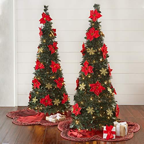 Pop up Christmas Tree with Poinsettias
