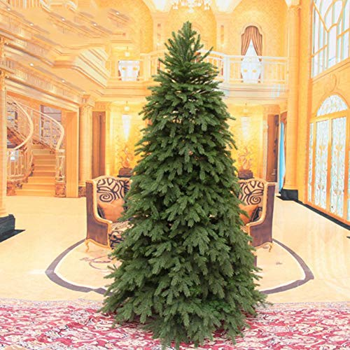 XIAOMEI Luxury Artificial Pine Christmas Tree High Grade Metal Leg PVC On Easy Assembly Encryption Indoor Outdoors Hinged (Green) -B 180cm (71inch)