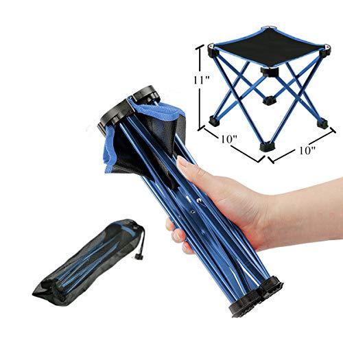 Kleiner ultraleichter tragbarer Campinghocker, zusammenklappbarer Rasenstuhl,...